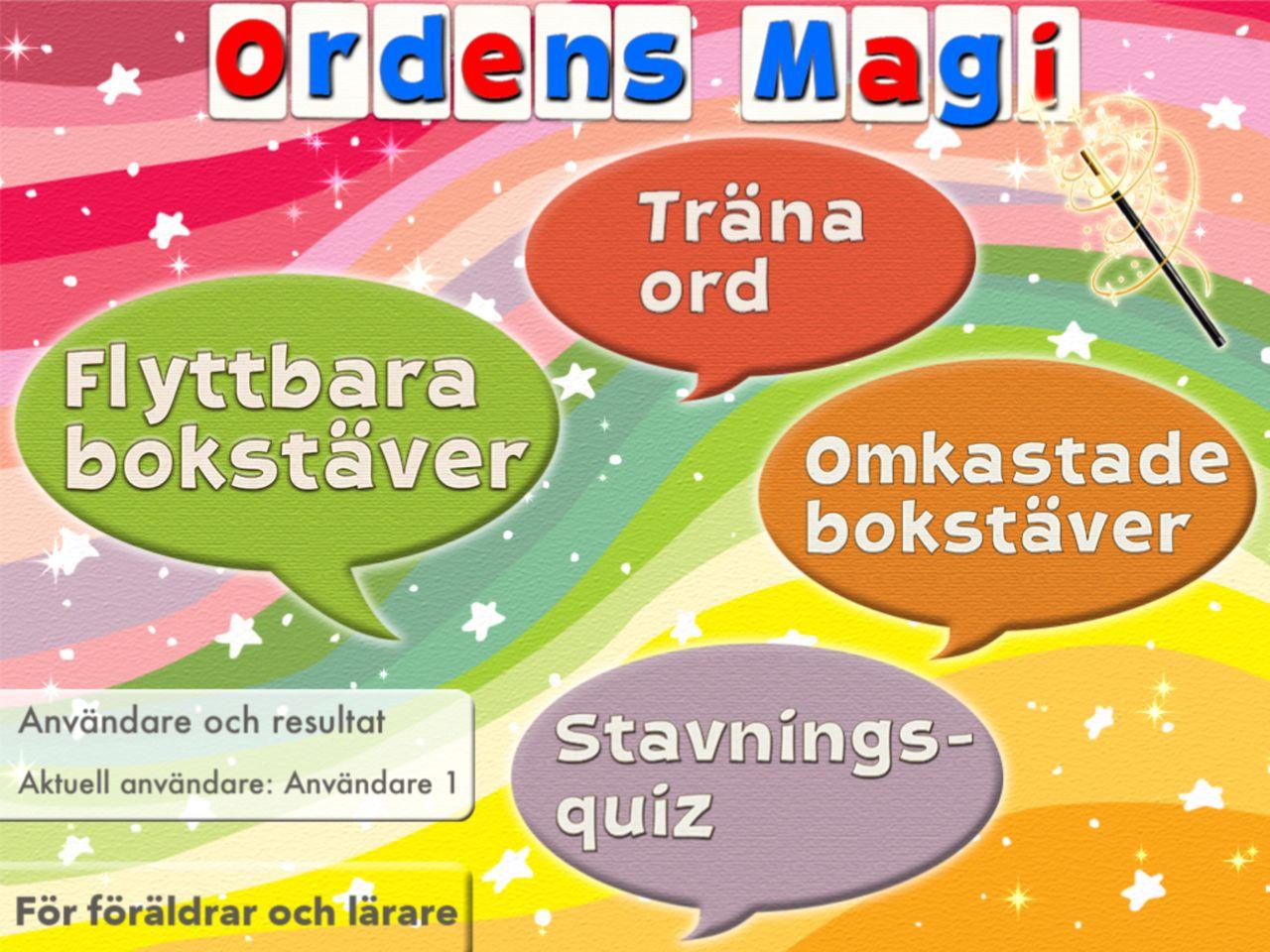Bilda ord av omkastade bokstäver svenska